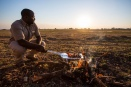 Bush kebabs at Busanga Plains, Zambia