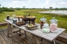 High tea at Vumbura Plains, Botswana