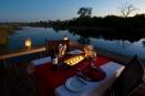 Dinner setting at Savuti Camp, Botswana