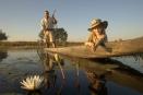 Mokoro ride along the Okavango at Chitabe Camp, Botswana